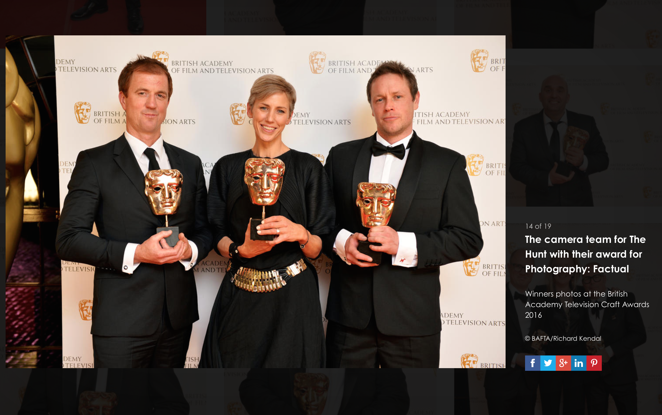BAFTA 2016 Televison Craft Photography - Factual